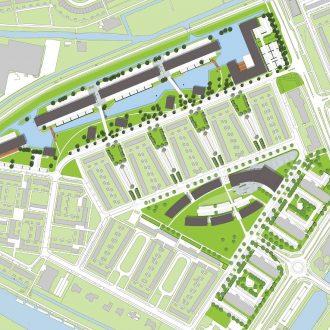 Appartementen, zorgcentrum en parkeergarage in Wheermolen in Purmerend