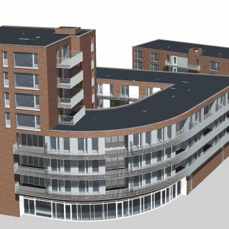 Centrumplan de Open Waard met Appartementen, ALDI, winkels, gezondheidscentrum, apotheek en zorgcentrum in Oud Beijerland