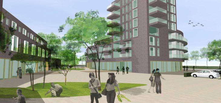 Apartments, shopping center and care center de Open Waard Oud Beijerland