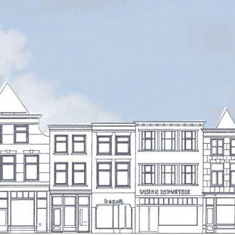 Renovatie Restauratie winkels appartementen Spui Den Haag