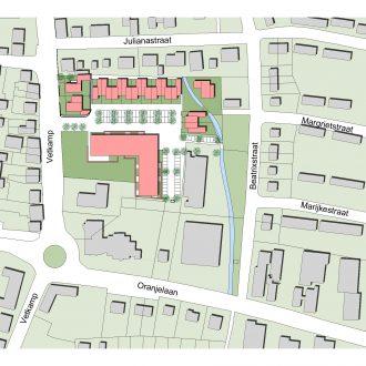 Verpleeghuis en woningen in centrum Nijkerk