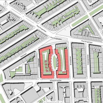Woningen en Albert Heijn Paul Krugerplein Den Haag